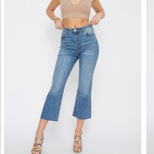Charlotte Russe High Waist Cropped Jeans